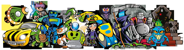 Les enfants doivent apprendre à coder pour aider les personnages de Codelearn
